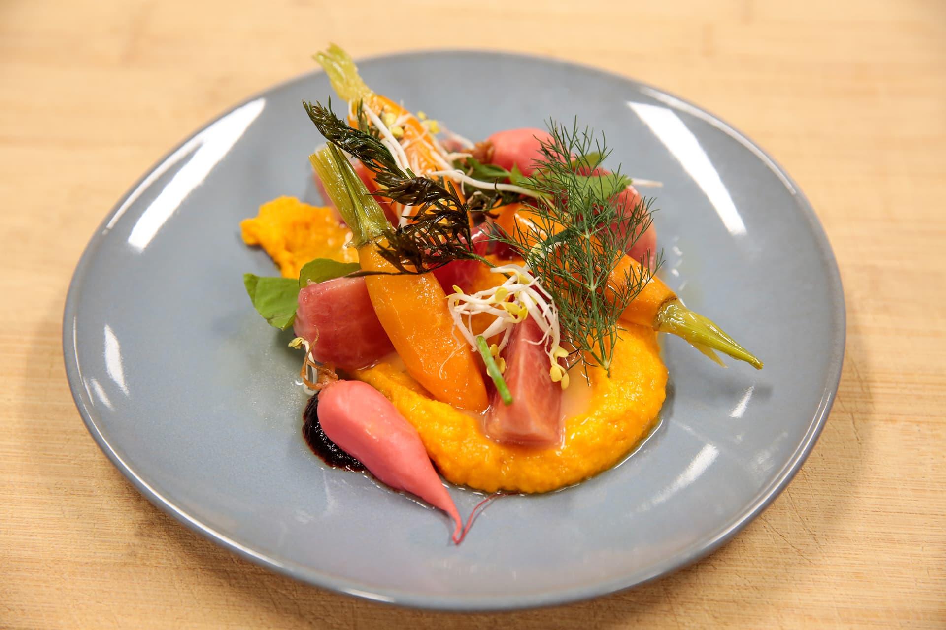 Möhren und Beete - Fränkische Karotte und bunte Beete in Texturen